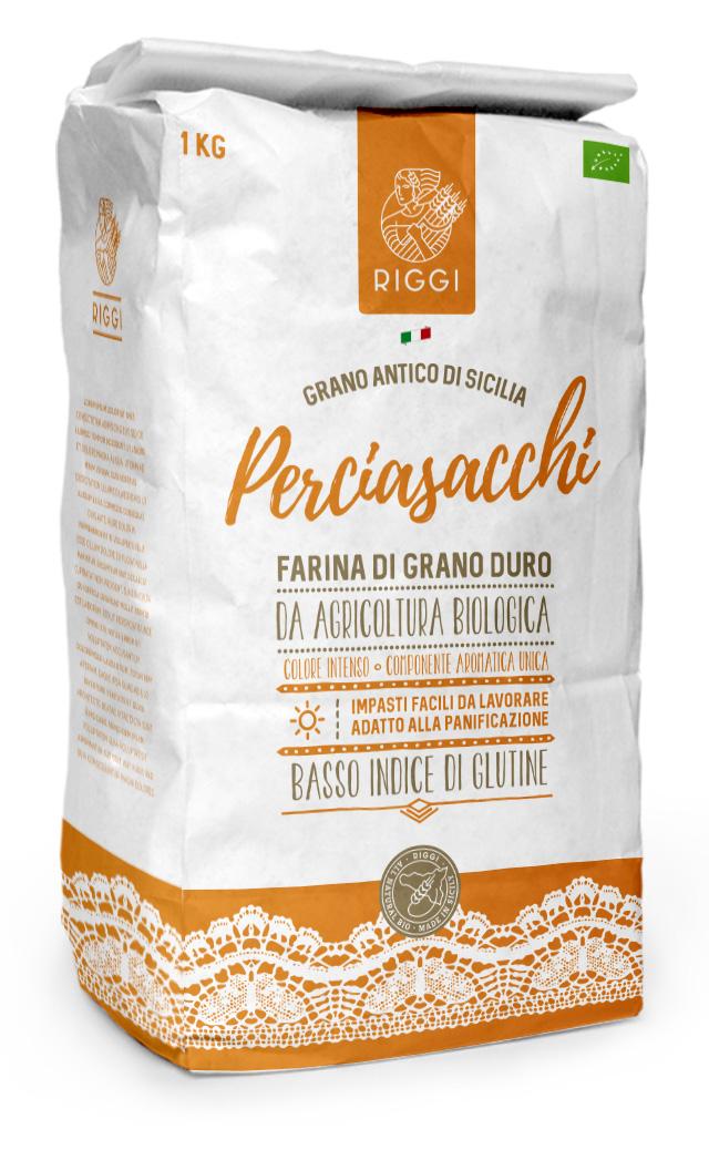 Farina biologica di grano duro varietà Perciasacchi