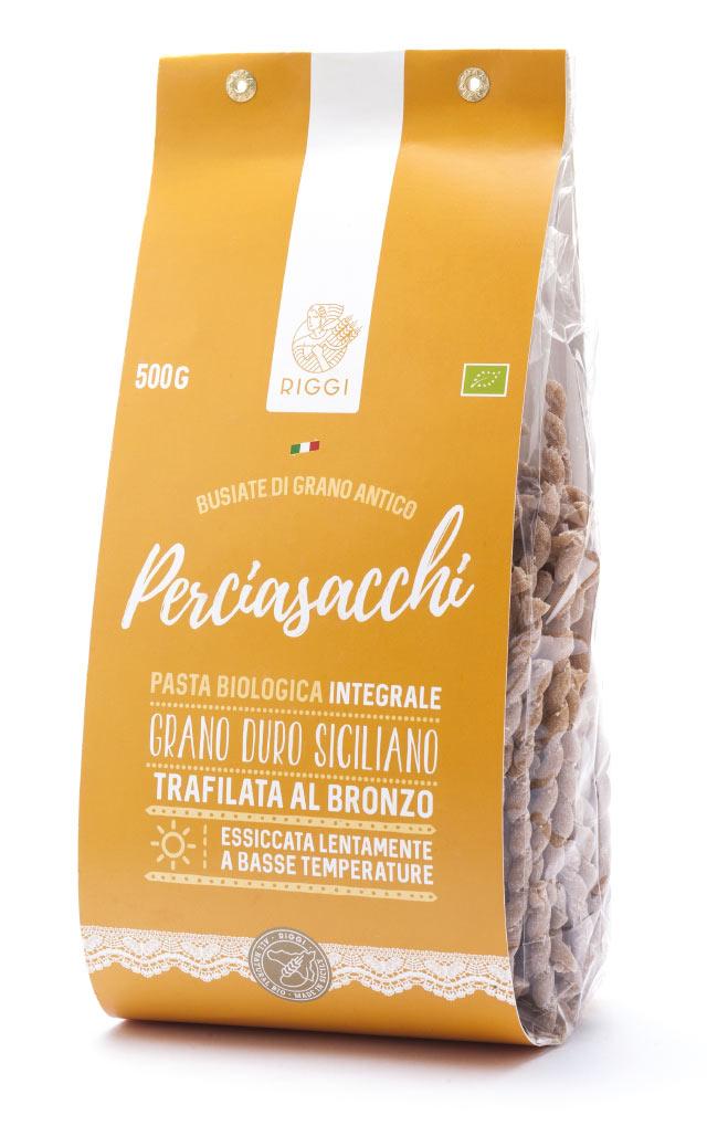 Busiate di farina biologica Perciasacchi Molini Riggi